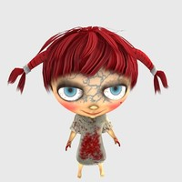 girl character poser figure 3d model