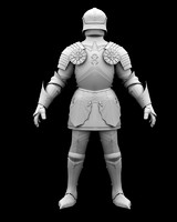 3d knight armour model
