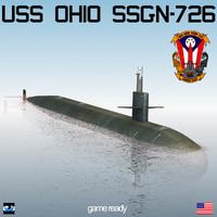 uss ohio ssgn-726 3d model