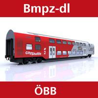 3d passenger car railway