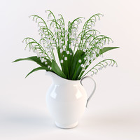 bouquet pitcher 3d obj