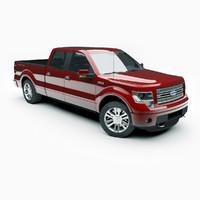 3d 2013 f-150 limited pickup truck