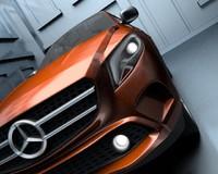3d mercedes blender model