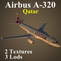 airbus qtr 3d max