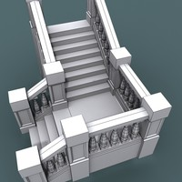 3d model step staircase