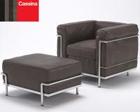 3dsmax le corbusier armchair lc2
