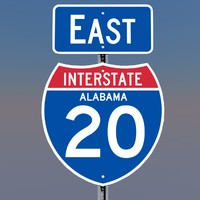 3D Alabama Interstate 20 Signs
