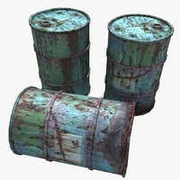 Very Rusty Oil Barrels