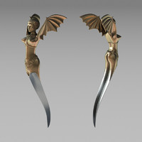knife harpy 3d model
