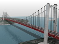 Red Suspension Bridge