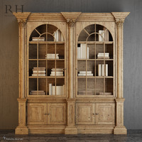 3d palladian salvaged pine library
