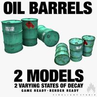 oil barrels 3d max