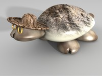 3d model sea shell turtle