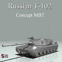 3d russian mbt model