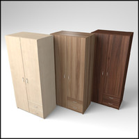3d veneered wardrobe