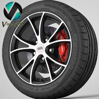 wheel alcasta 3d max