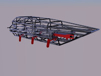 frame kart kartcross 3d model