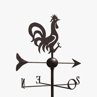 3d rooster weathervane model