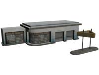 garage shop 3d model