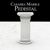 3d model carrara marble pedestal