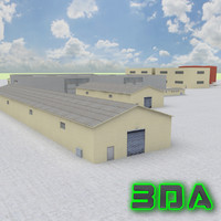 product industrial buildings 3d max