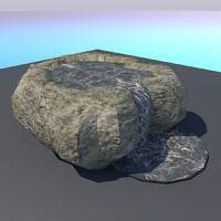 3d model rock -