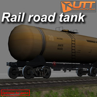 short rail road tank 3d model