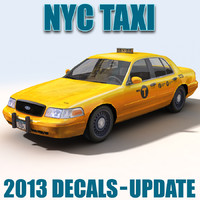 NY City TAXI 2013 Decals
