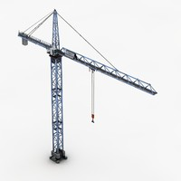 tower crane 2 3d model