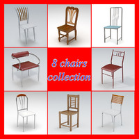 3d pack chairs model