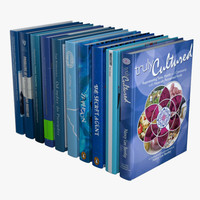 blue books 3d model