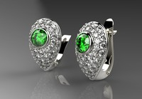 jewelry earrings 3d obj