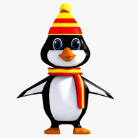 3d model penguin character