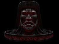 3d chinggis s head
