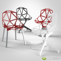 3d stacking chairs model