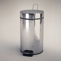 dustbin metal 3d model