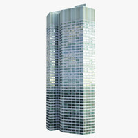 skyscraper eurotower 3d model