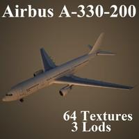 3d model airbus a-330-200 air
