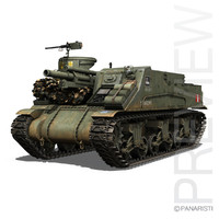 m7 priest - british army c4d