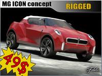 3d model mg icon concept car