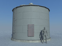 Old Sealed Grain Bin