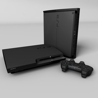 c4d sony playstation 3 slim