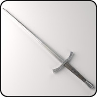 3d medieval sword