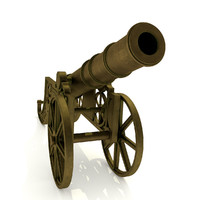 signal cannon 3d obj