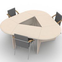 3d office table meetings model