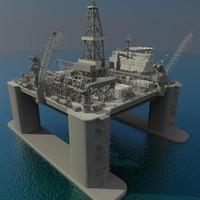 oil platform 3d model