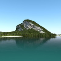 3ds max tropical island landscape