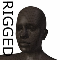 rigged base mesh young 3d obj