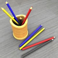 pencil holder obj