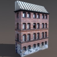 Apartment House #125 Low poly 3d Model